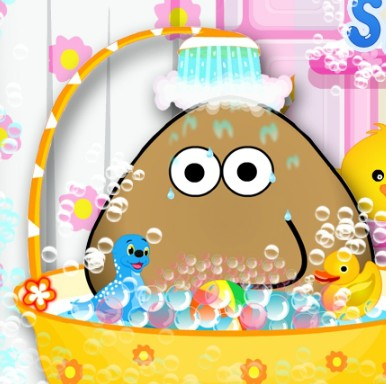 Pou Takes A Shower