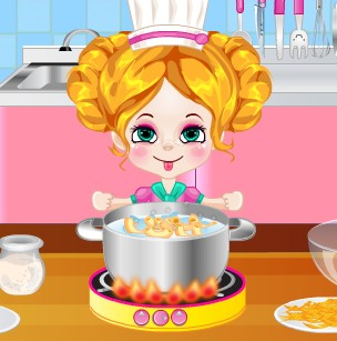 KIKI MACARONI AND CHEESE COOKING