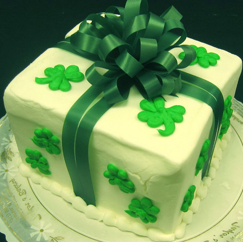 Shamrock Cake Cooking