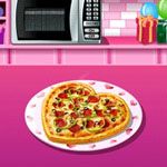 Valentine Pizza: Sara's Cooking Class
