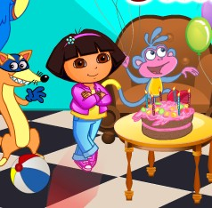 Baby Dora Boots Birthday Party Decor