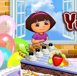 Baby Dora Yummy Cake Decorating