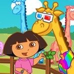 Dora and Baby Giraffe Care
