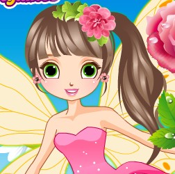 Beautiful Flower Fairy DressUp